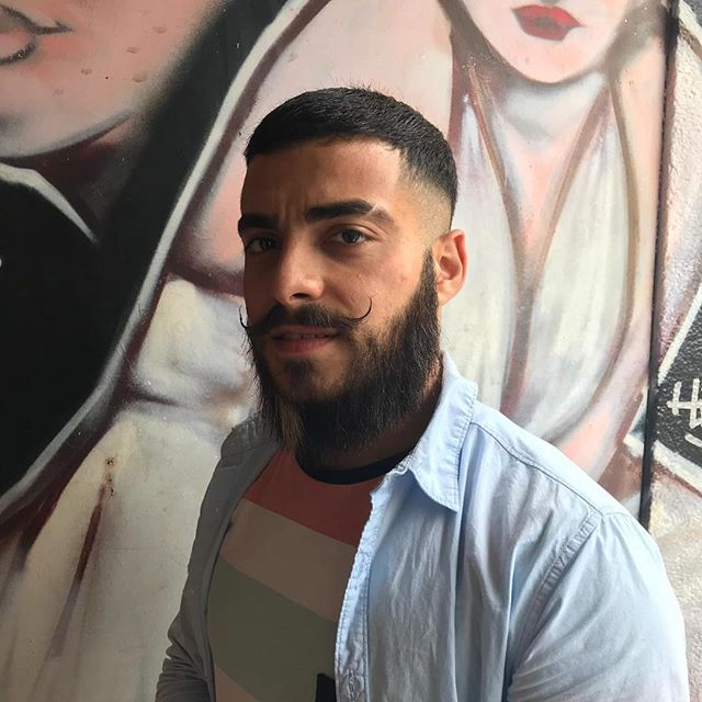 Beard straightening with with the Japanese hair straightening product.#beardstraightening #barbershop
